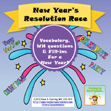Happy New Year 2018! New Year's Resolution Race {vocabular