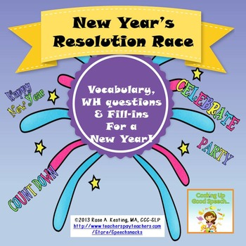 Happy New Year 2019! New Year's Resolution Race