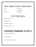 New Year's Resolution Reading and Writing Activity
