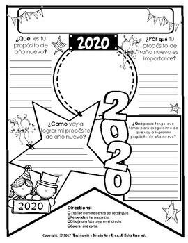 New Years 2019 Resolution SPANISH Propósitos de Año Nuevo