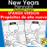 New Years 2020 Resolution SPANISH Propósitos de Año Nuevo