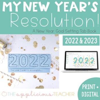 New Year's Resolution Foldable Tab Book