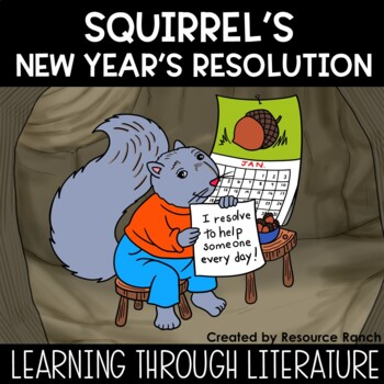 New Years Activities 2019 and Squirrel's New Year's Resolution Worksheets