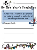 New Year's Resolution Worksheet
