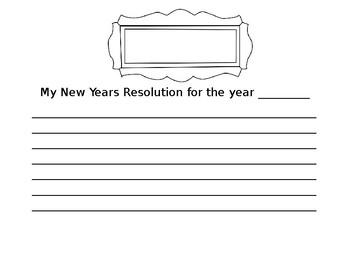 New Years Resolution Writing