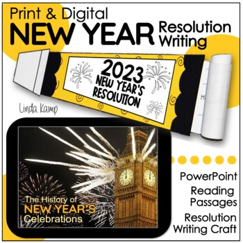 New Year's Resolution Writing Craft, Minilessons & Leveled Passages