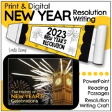 New Year's 2022 Resolution Craft, Reading Passages & Power