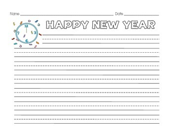 New Year's Resolution Writing Activity - Common Core Alligned