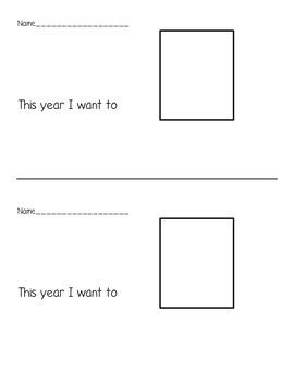New Years Resolution Writing- Choice Board