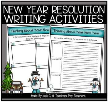 New Years Resolution Writing Packet- NO PREP- Print and Wr