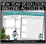 New Years Resolution Writing Packet- NO PREP- Print and Write Activtiy