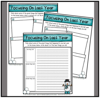 New Years Resolution Writing Packet- NO PREP- Print and Write Activtiy
