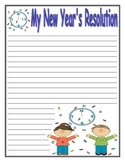 New Year's Resolution Writing Paper