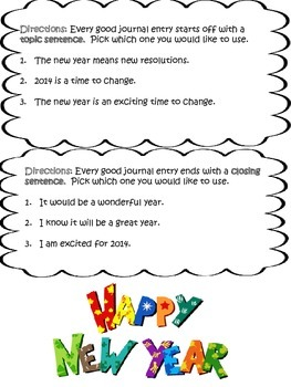 New Years Resolution - Writing Prompt
