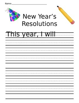 New Year's Resolution Writing Prompt