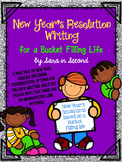 New Year's Resolution Writing for a Bucket Filling Life **