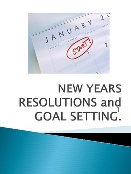 New Years Resolution and Goal Setting Activity
