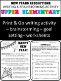 New Years Resolutions 2019 - Goal Setting Worksheets - Upp