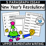 New Years Resolutions 2019 New Years Activities 5 Paragraph Writing