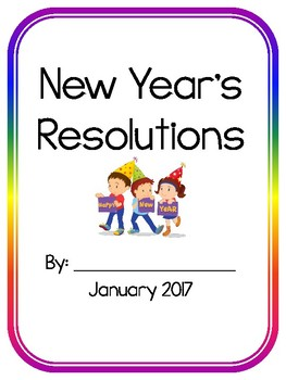 New Year's Resolutions Class Book