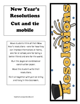 New Year's Resolutions Cut and Tie mobile