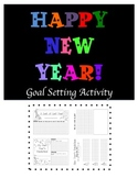 New Year's Resolutions Goal Setting Activity