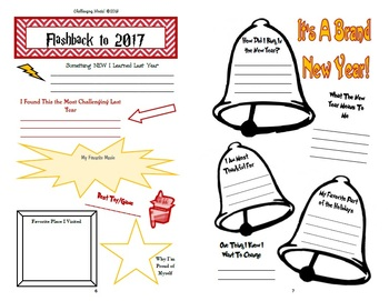 New Year's Resolutions & Goals Activity Booklet 2017
