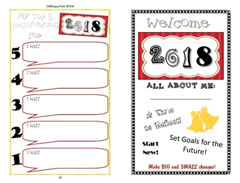 New Year's Resolutions & Goals Activity Booklet 2018