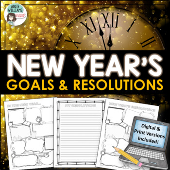 New Year's 2018 Writing, Resolutions and Goals