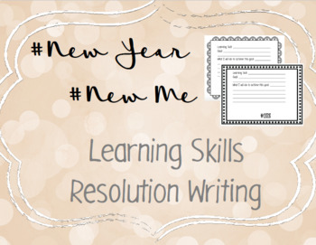 New Years Resolutions FREEBIE: Learning Skills Goals for 2018