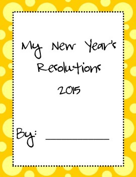 New Year's Resolutions Packet FREE!!!