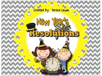 New Year's Resolutions SMART Notebook Hall Display