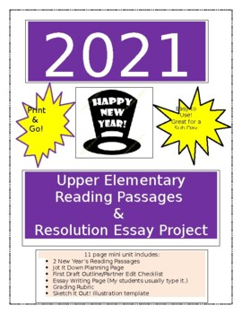 Essay on new year resolution