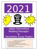 New Year Resolutions 2021 Upper Elementary Reading/Essay Writing