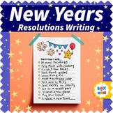 New Years Resolutions Writing Activity in English, Spanish