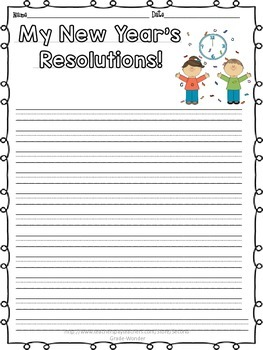 New Year's Resolutions Writing and Circle Map