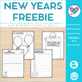 New Year's Resolutions and Goals Freebie PDF and Digital