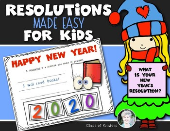 New Year's Resolutions for Kids {Perfect for Kindergarten and First Grade}