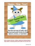 New Years Review Math Pack 2017