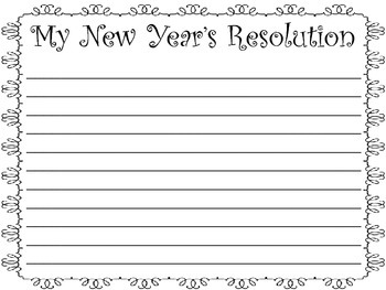 New Year's Resolution Writing