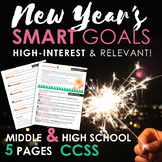 New Year's SMART Goals, Multimedia CCSS Lesson Plan + Poetry and Myth, 8-11