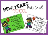 New Years ^School Post Card