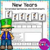 New Years Scrambled Sentences and Cut and Paste Build a Sentence Worksheets