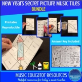 New Years | Secret Picture Music Tiles | Reproducible | BUNDLE
