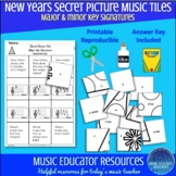 New Years | Secret Picture Music Tiles | Key Signatures |