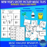 New Years | Secret Picture Music Tiles | Music Notes | Rep