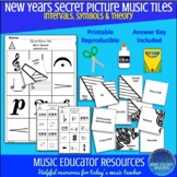 New Years | Secret Picture Music Tiles | Music Theory | Re