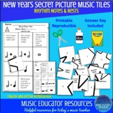 New Years | Secret Picture Music Tiles | Rhythm | Reproducible