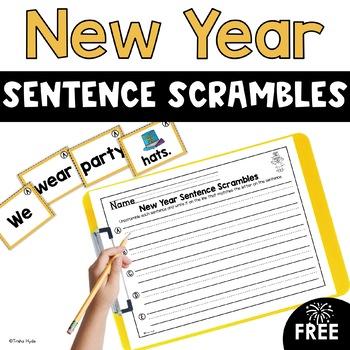 New Year Sentence Scrambles
