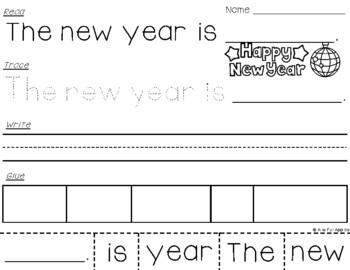 New Years Sentences {Read-Trace-Write-Glue}